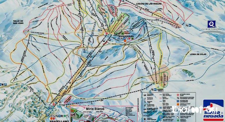 Localización de nuestra Escuela de Esquí en Sierra Nevada