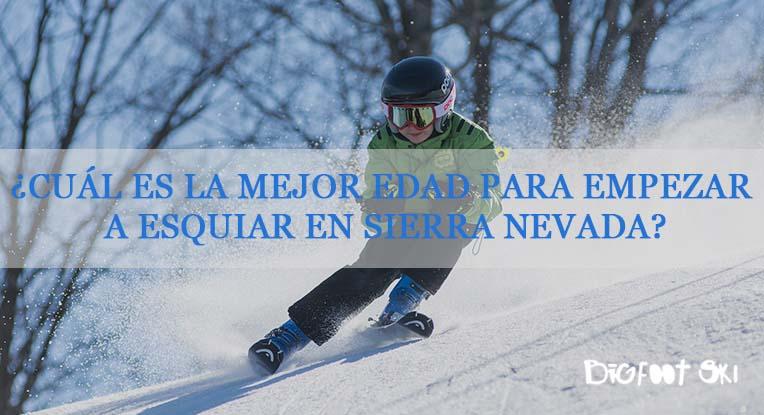 ¿Cuál es la mejor edad para empezar a esquiar en Sierra Nevada?