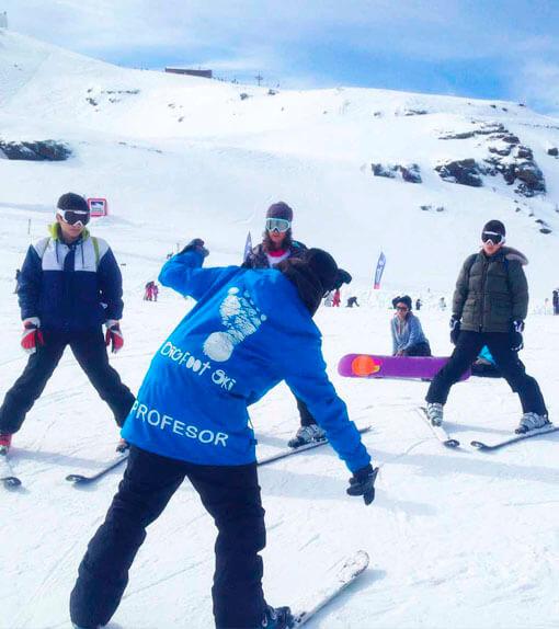 Monitor de esquí en Sierra Nevada