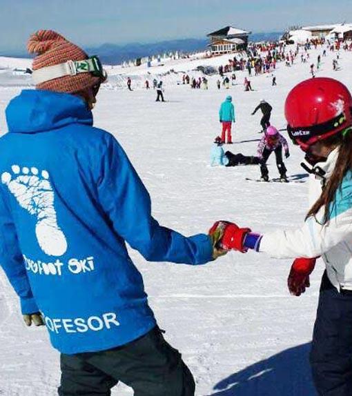 Monitor de snowboard en Sierra Nevada